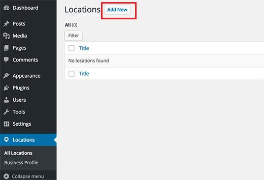 adicionar um novo local