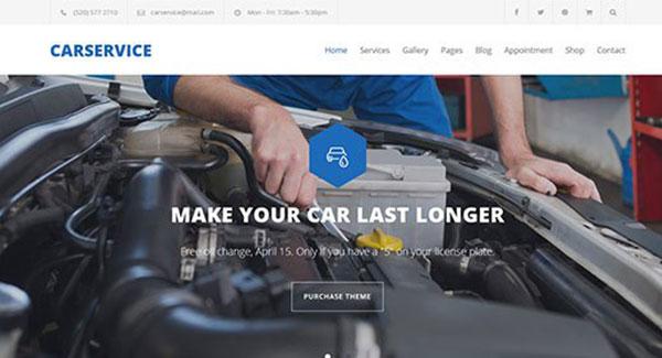 temas de WordPress para 10 taller de reparación automoviles ...