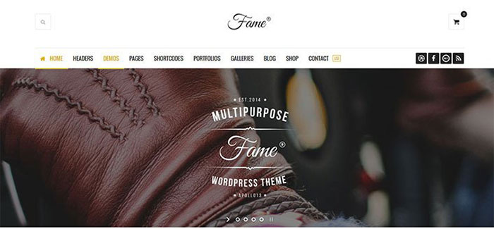 Fame 10 themes wordpress dedies a la mode blogpascher