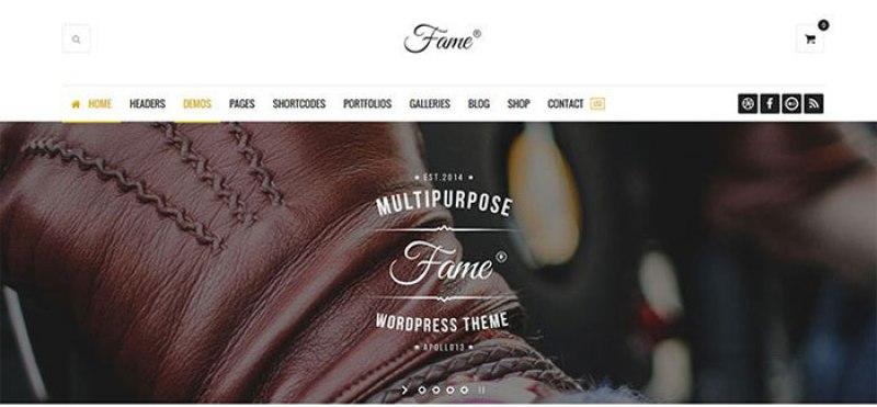 créer un site Web de mode ou d'e-Commerce - fame