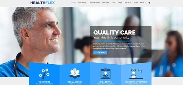 healthflex-10-themes-wordpress-cabinet-dentaire-blogpascher