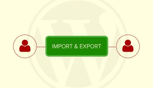 importer les utilisateurs WordPress