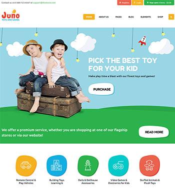 Juno – Un Thème WordPress Pour Site Web De ECommerce De Jouets