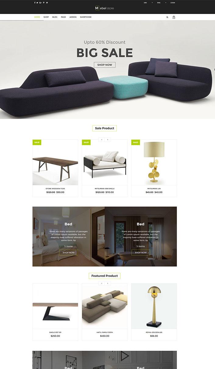 Mebel - Ein Wordpress-Theme für E-Commerce-Web | BlogPasCher