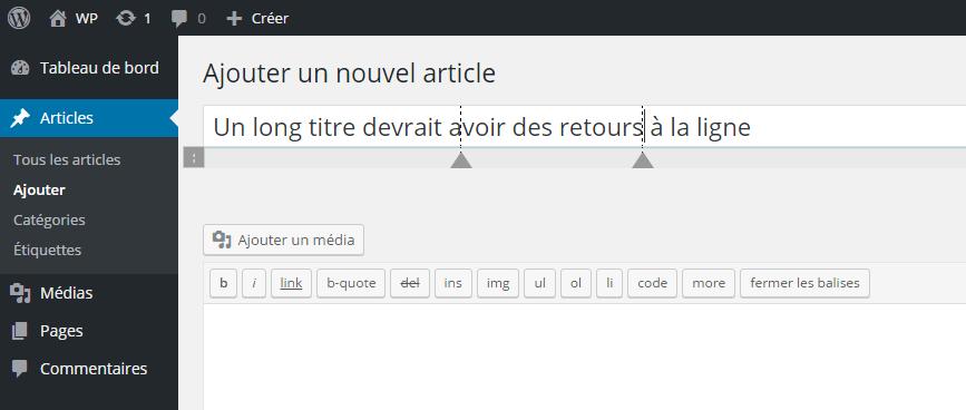 beberapa jeda baris WordPress