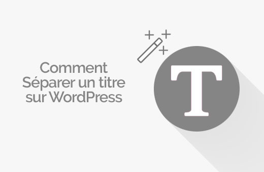 séparer un article sur WordPress