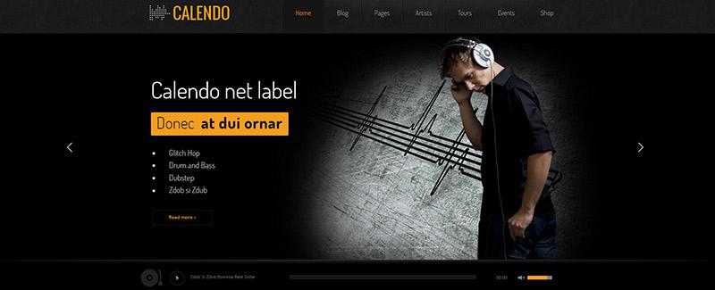 10 WordPress temas a sitio web del artista, músico, productor ...