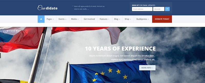 thèmes WordPress pour créer un site web de gouvernement - Candidate
