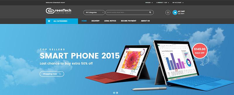 Greentech themes prestashop vendre des telephones blogpascher