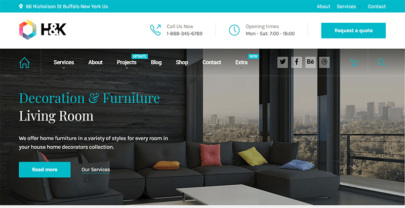 Hnk theme wordpress creer site web agence immobilière