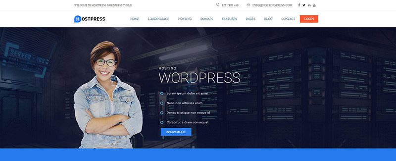 10 temas de WordPress para la empresa de alojamiento web   BlogPasCher