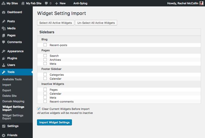 importation-des-widgets