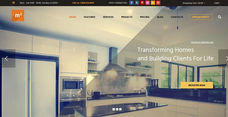 M2 themes wordpress creer site internet renovation