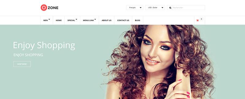 Озон-тема-PrestaShop бутики-линейный режим-blogpascher