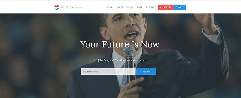 10 thèmes WordPress pour site web de parti politique