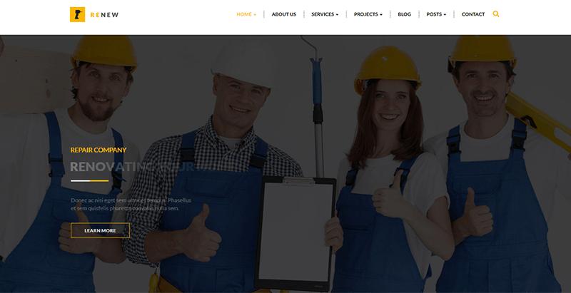 Renew themes wordpress créer site web entreprise renovation