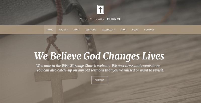 Rock harbor– meilleurs thèmes WordPress d'église