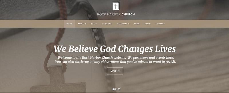 Rock harbor themes wordpress site internet eglise blogpascher