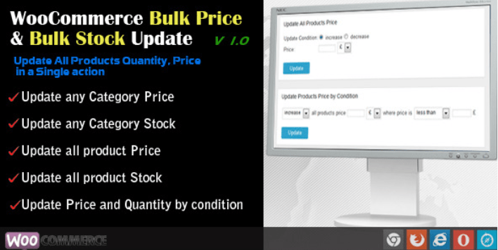 WooCommerce Bulk Price and Stock Quantity Update plugins wordpress editer produits vrac