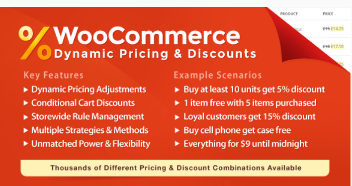 meilleurs plugins WooCommerce - Woocommerce dynamic pricing discounts