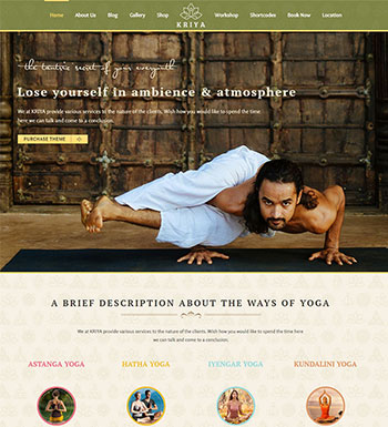 Kriya Yoga – Un Thème WordPress Pour Club De Yoga