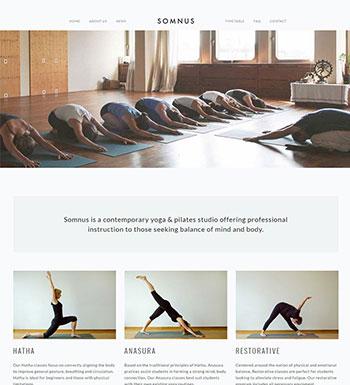 Somnus – Un Thème WordPress Pour Club De Yoga