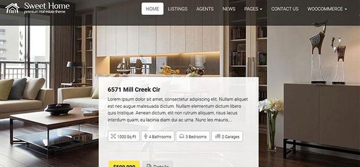 10 temas de WordPress para la venta de apartamentos | BlogPasCher