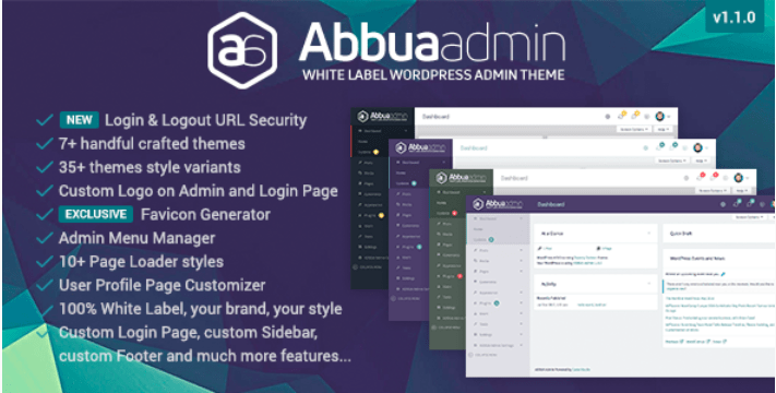 Abbua admin wordpress theme