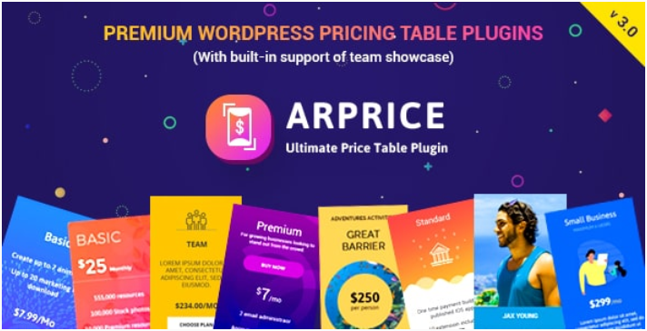 ARPrice Responsive WordPress Pricing Table Plugin