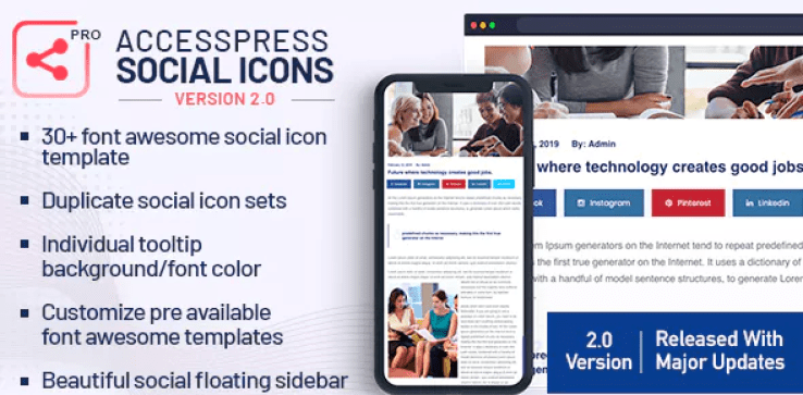 Accesspress social icons pro plugin wordpress