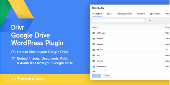 Drivr google drive plugin for wordpress