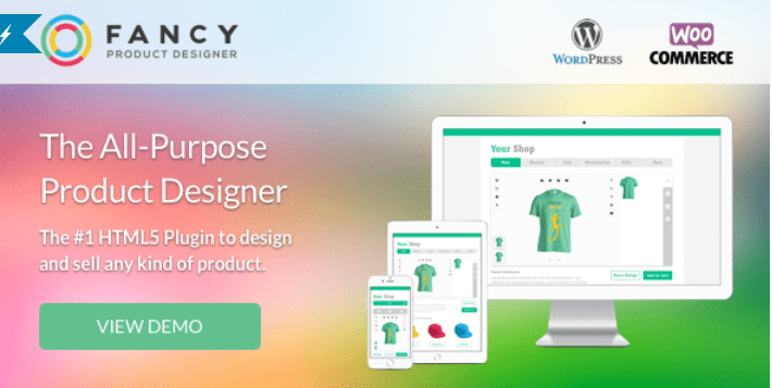 Fancy product designer woocommerce wordpress