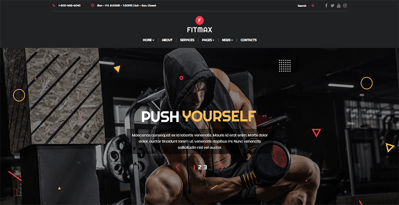 Fitmax theme wordpress creer site web club fitness gym
