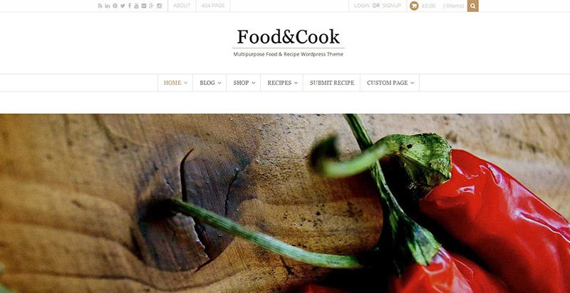 Alimentos-cocinero-theme-wordpress-crear el sitio Web-restaurante