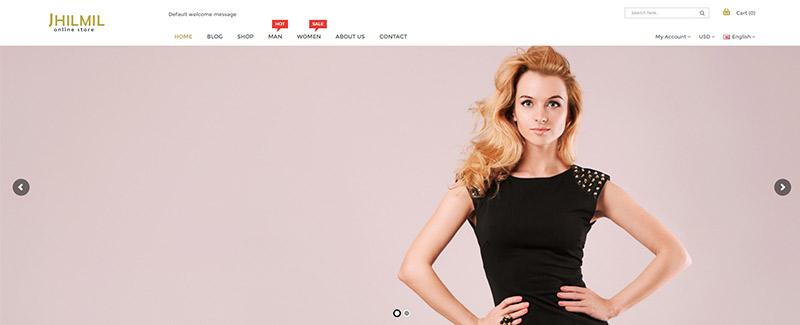Jhilmil e commerce mode boutique en ligne site internet theme wordpress