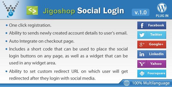 o login jigoshop-sociais