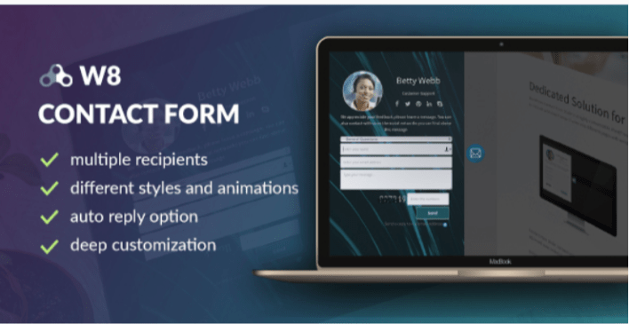 W8 contact form wordpress contact form plugin