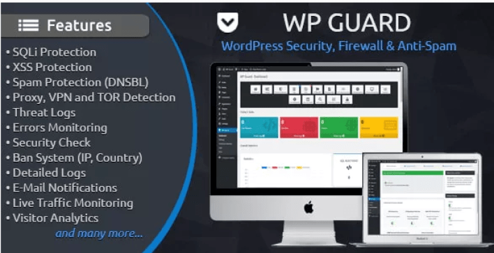 Wp guard security firewall anti spam plugin wordpress