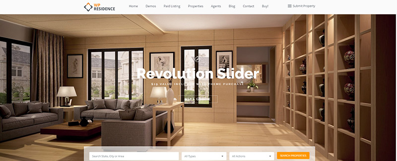 Wp Residence Themes Wordpress Site Internet Agent Immobilier Agence Immobiliere Vente Maison Location Appartement