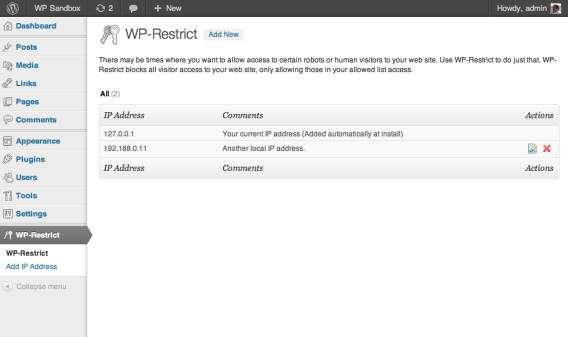 wp-restrict