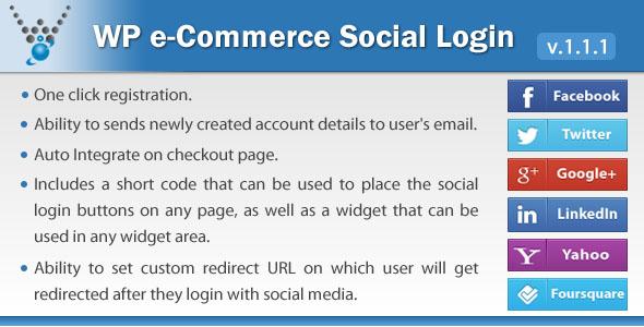 -Wp-e-comércio social de login