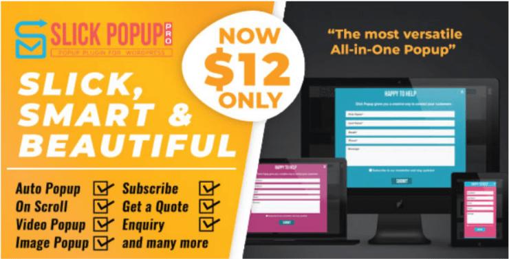 WordPress Popup Plugin Slick Popup Pro