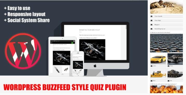 créer un quiz - WordPress buzzfeed style quiz plugin