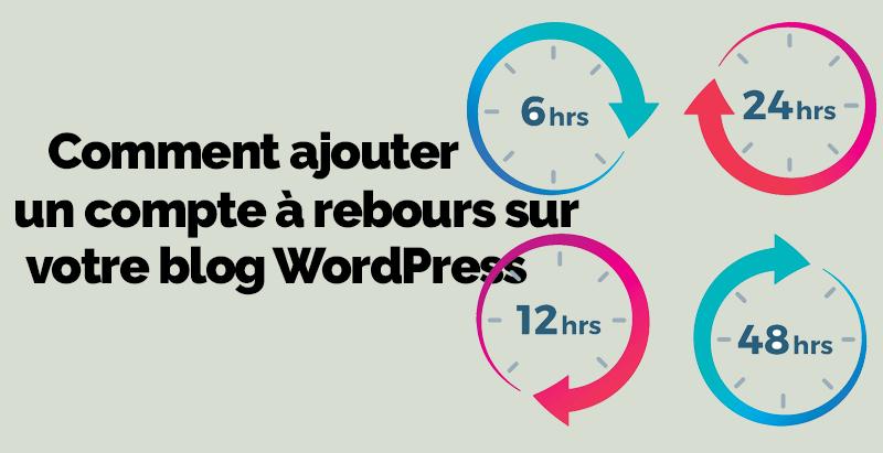 ajouter un compte à rebours sur WordPress