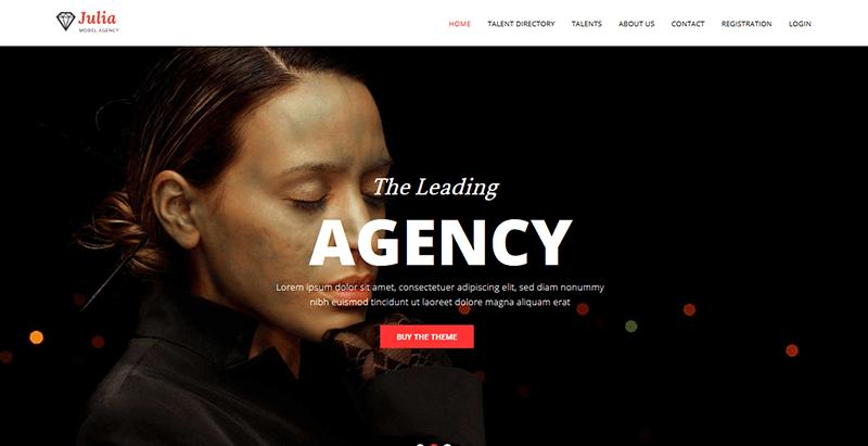 Julia themes wordpress creer site internet top models