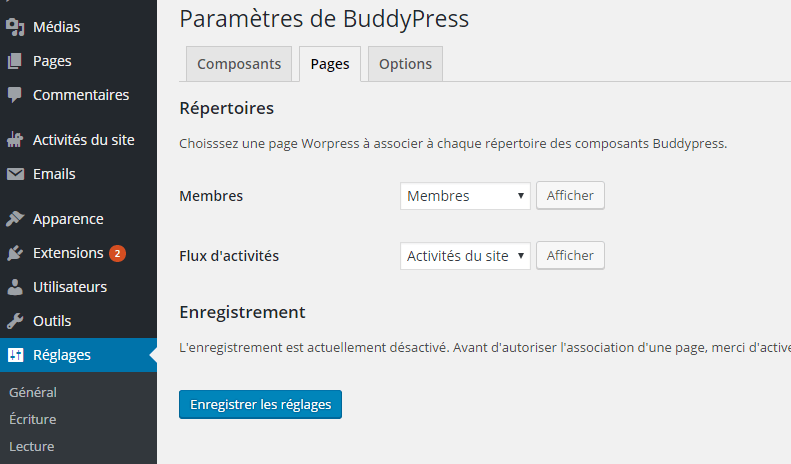 option-page-buddypress-plugin-wordpress