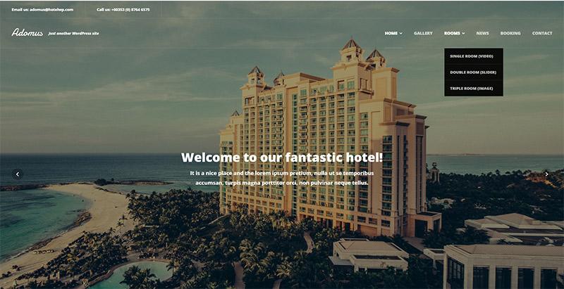 Adomusl themes wordpress creer site internet hotel motel