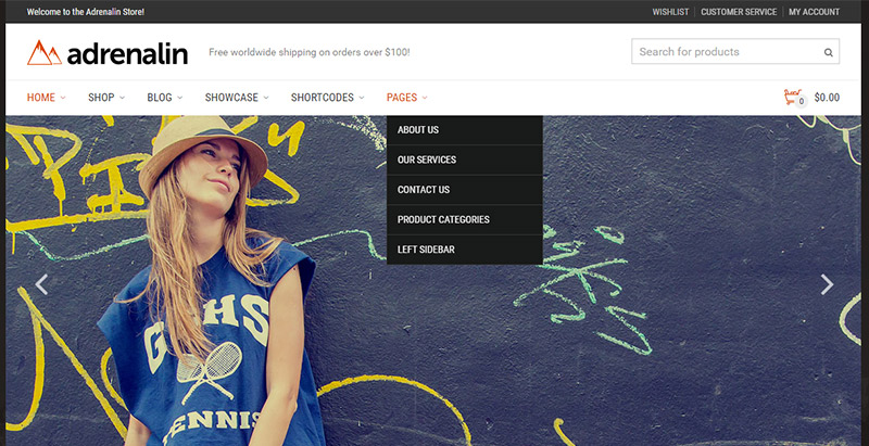Adrenalin themes wordpress creer site internet ecommerce