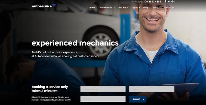 10 WordPress temas para crear un sitio web mecánico | BlogPasCher