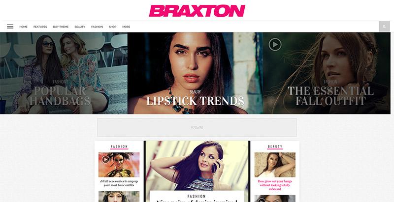 Braxton themes wordpress creer site internet magazine actualites blog
